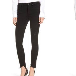 TOP SHOP BLACK JAMIE JEANS STEP HEM SKINNY JEANS